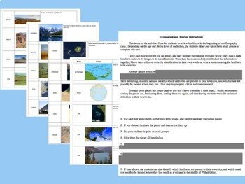 Physical Geography Landforms Bundle