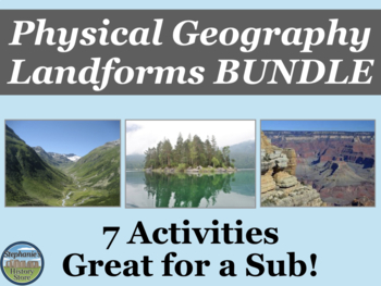 Physical Geography Landforms Bundle