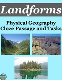 Physical Geography Landforms Cloze Passage Activity