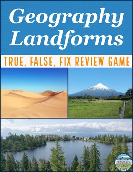 Physical Geography Landforms Review Game