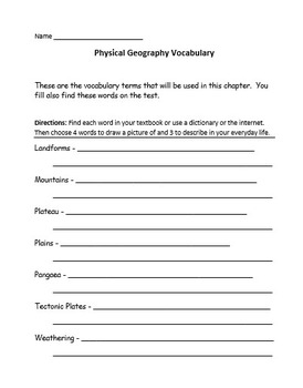 Physical Geography Unit