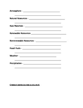 Physical Geography - Vocabulary