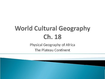 Physical Geography of Africa