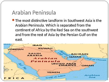 Physical Geography of Southwest Asia