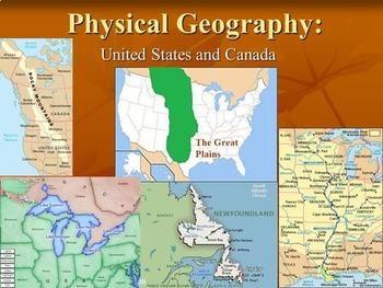 Physical Geography of the US and Canada Bundle