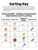 Physical Health Vocabulary Sort a Health Education Teaching Activity