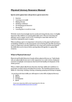 Physical Literacy Resource (Full Document)