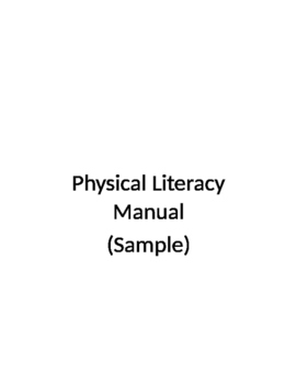 Physical Literacy Resource (Sample)