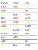 Physical Literacy Road Maps (Capital Letters and Sight Words)