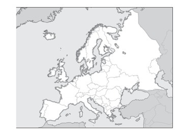 Physical Map Activity Europe - Map Labeling