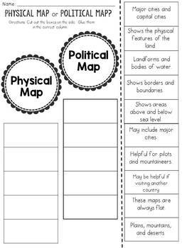 Physical Map or Political Map? Cut and Paste