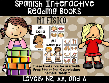 Physical Me Spanish Interactive Reading Books Can Be Used With Frog Street