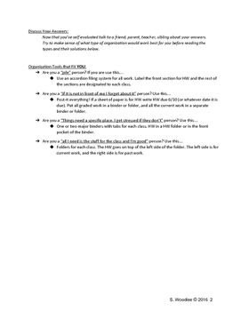 Physical Organization Self Assessment