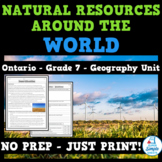 Natural Resources Around the World - Ontario Geography Strand B - Grade 7