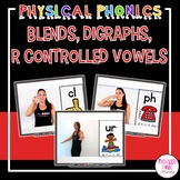 Blends, Digraphs, R Controlled Vowels Physical Phonics (Movement Cards & Videos)
