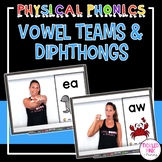 Vowel Teams & Diphthongs Physical Phonics (Movement Cards & Videos)