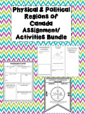 Physical & Political Regions of Canada Assignment/ Activit