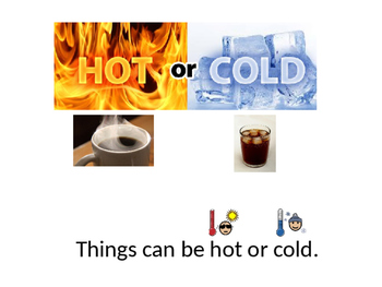 Physical Properities (Hot vs. Cold) Adapted Book -Special Education