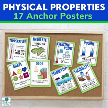 Physical Properties of Matter: Anchor Posters for Bulletin Board