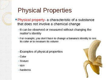 Physical Properties Changes Presenation