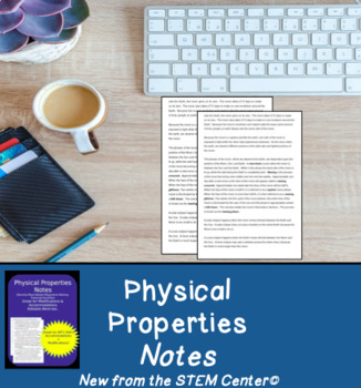 Physical Properties Notes: Great for IEP's & 504's