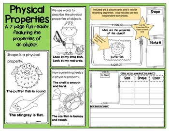 Physical Properties Reader/Observation Chart