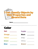 Physical Properties Sorting and Data Collection Booklet -