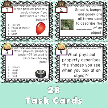 Physical Properties Task Cards