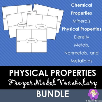 Physical Properties Unit Vocabulary Practice