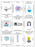 Physical Properties of Matter 3 x 3 Review game