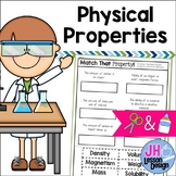 Physical Properties of Matter: Cut and Paste Matching Activity