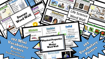 Big Bundle of Vocabulary Words for Physical Properties, Energy, and Life Science