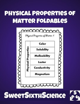 Physical Properties of Matter Foldables for Interactive Notebook