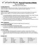 Physical Properties of Matter Game Puzzle with Worksheet