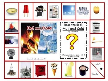 Physical Properties of Matter-Hot or Cold Game Board