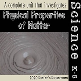 Physical Properties of Matter Illustrated Vocabulary and Graphic Organizers