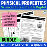 Physical Properties of Matter Reading Passages and Activities BUNDLE