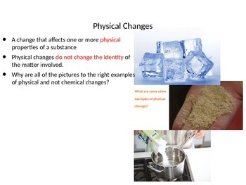 Physical Properties of Matter Power Point with Assignment