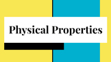 Physical Properties of Matter PowerPoint