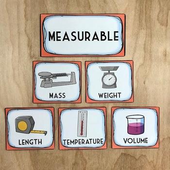Physical Properties of Matter Sort: Measurable, Testable, Observable