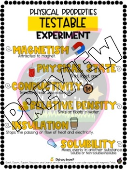 Physical Properties of Matter - Testable