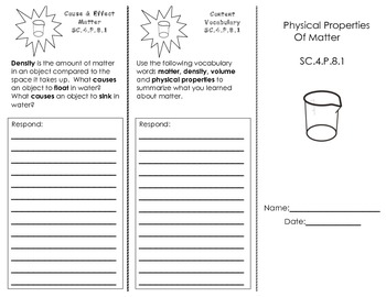 Physical Properties of Matter Trifold