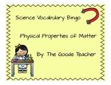 Physical Properties of Matter Vocabulary Bingo