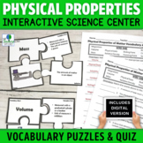 Physical Properties of Matter Vocabulary Puzzle Activities