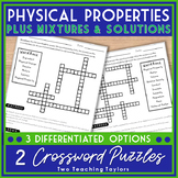 Physical Properties of Matter Worksheets | Crossword Puzzles