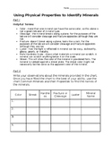 Physical Properties of Minerals - Lab worksheet