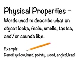 Physical Properties poster, sort, and practice activity