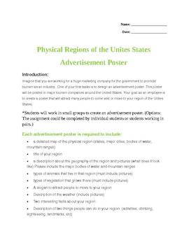 Physical Region Advertisement Poster Activity