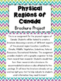 Physical Regions of Canada- Brochure Assignment