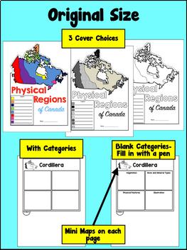 Physical Regions of Canada Flip Book